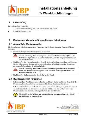 Installationsanleitung tallationsanleitung - IBP-Brandschutz