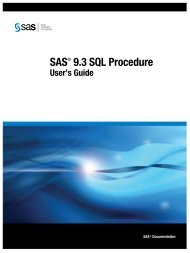 SAS 9.3 SQL Procedure User's Guide