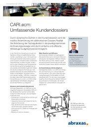 CARI.ecm: Umfassende Kundendossiers - Abraxas Informatik AG