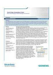 Solid Edge Embedded Client - PBU CAD-Systeme
