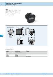 Mechanischer Stellknopf DK01 frontseitiges Display
