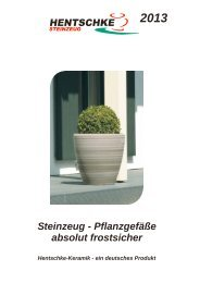 Katalog 2012, 106 Seiten - Hentschke Keramik