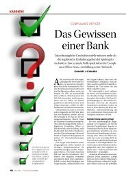 Compliance Officer - Das Gewissen einer Bank - roth the matchmakers