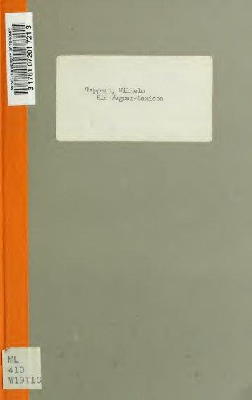 Ein Wagner-Lexicon : Wörterbuch der Unhöflichkeit
