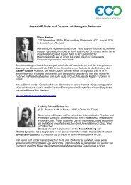 Erfinder und Forscher mit Steiermarkbezug