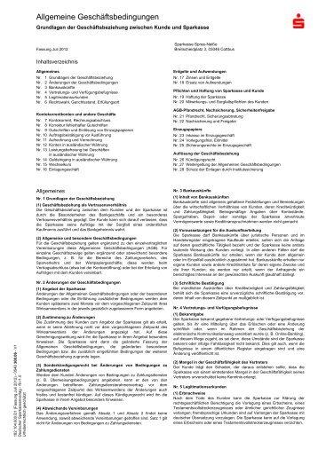 AGB - Sparkasse Spree-Neiße