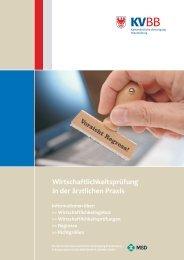 Wirtschaftlichkeitsprüfung in der ärztlichen Praxis - Kassenärztliche ...
