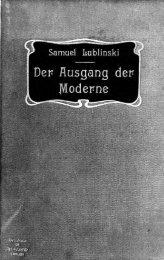 Der Ausgang der Moderne
