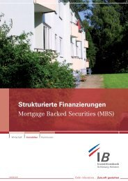 Strukturierte Finanzierungen - Investitionsbank Schleswig-Holstein