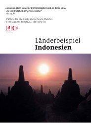 Warum eine Fürbitte für bedrängte und verfolgte Christen? Indonesien