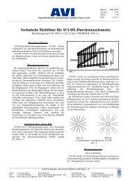 Technische Richtlinie für AVI-DE-Durchstanzelemente