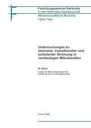Untersuchungen zu laminarer, transitioneller und turbulenter ...