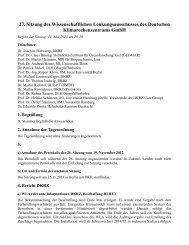 27. Sitzungsprotokoll, 14. 05. 2013 - DKRZ