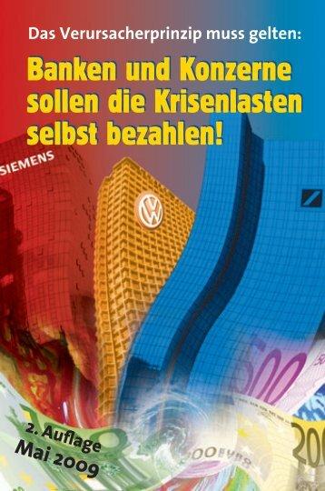 Banken und Konzerne sollen die Krisenlasten selbst ... - MLPD