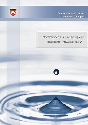 Informationen zur Einführung der gesplitteten Abwassergebühr