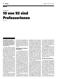 10 von 92 sind Professorinnen - Woxx