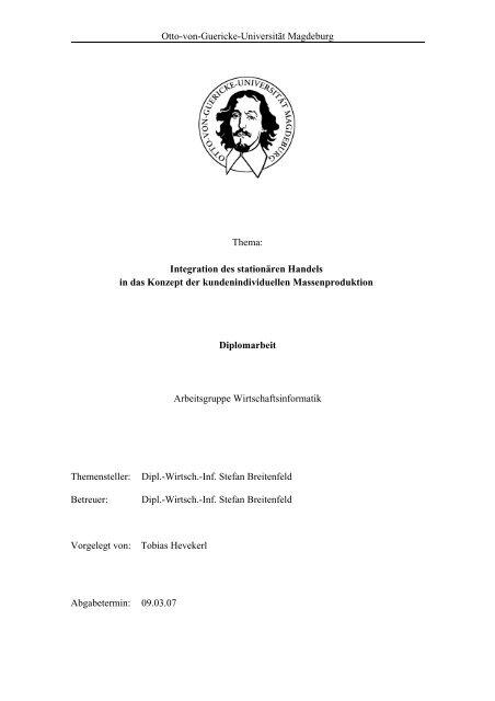 Diplomarbeit Tobias Hevekerlpdf Bauhaus Cs Uni Magdeburg