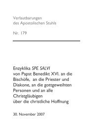 spe salvi - Deutsche Bischofskonferenz