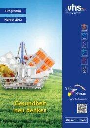 Gesundheit neu denken - VHS-Hanau