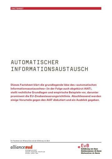 automatischer informationsaustausch - Erklärung von Bern
