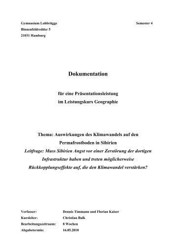 Permafrost im Klimawandel - Hamburger Bildungsserver