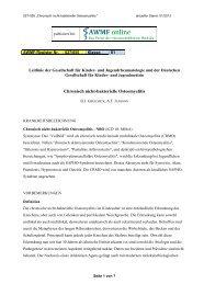 Chronisch nicht-bakterielle Osteomyelitis - AWMF