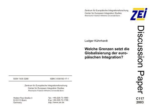 D iscussion P aper - Archive of European Integration