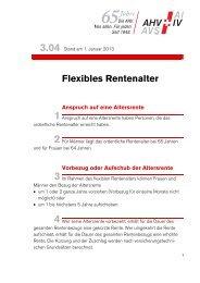 Merkblatt 3.04 Flexibles Rentenalter