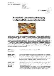 Merkblatt für Gemeinden zur Entsorgung von Speiseabfällen aus ...