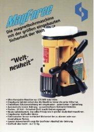 Magnethohlbohrmaschine MBM 1232 (MagForce) - Ferra Tools