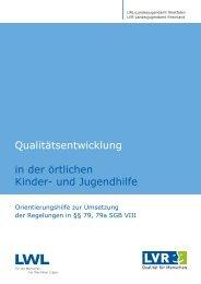 Qualitätsentwicklung in der örtlichen Kinder - Landschaftsverband ...