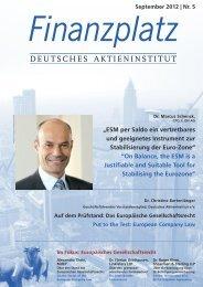 Europäisches Gesellschaftsrecht - Deutsches Aktieninstitut