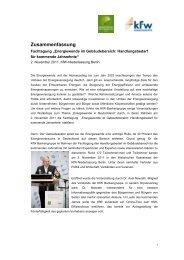 Zusammenfassung der Fachtagung (nicht barrierefrei) (PDF ... - KfW