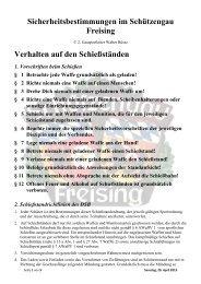 Zusammenfassung der wichtigsten Sicherheitsregeln - Schützengau ...