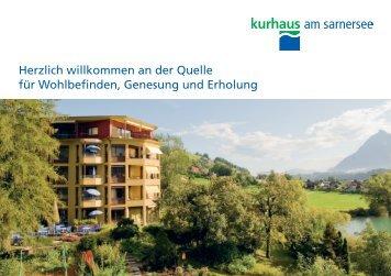 Prospekt Kurhaus (PDF) - Kurhaus am Sarnersee
