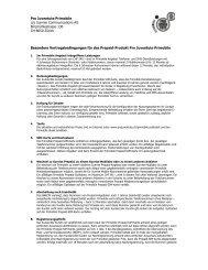 Besondere Vertragsbedingungen Primobile - Pro Juventute
