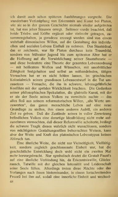Der Platonismus und die Gegenwart
