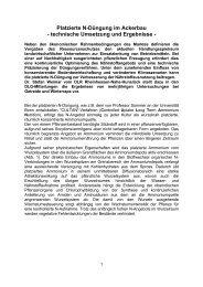 Platzierte N-Düngung im Ackerbau - technische ... - DLG-Mitteilungen