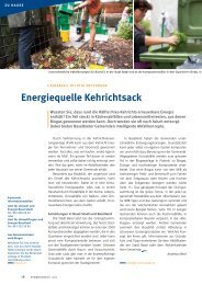 Energiequelle Kehrichtsack