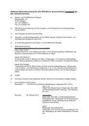 Nationale Bekanntmachung Baumfällarbeiten 2013