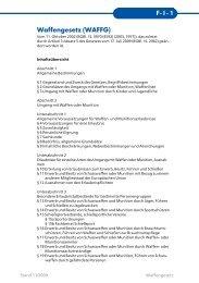 Waffengesetz - BSSB