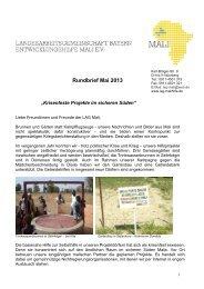 Mali-Rundbrief 01/2013
