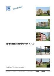 Broschüre RPB a-z_Version 2012 - Regionales Pflegezentrum Baden
