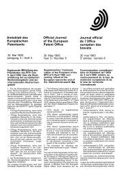 Amtsblatt des Europäischen Patentamts Official Journal of the ...