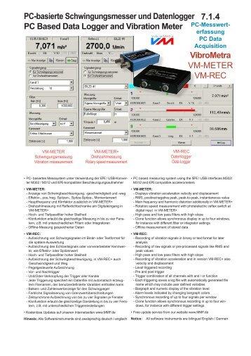 Pc Data Acquisition : Datenblatt mmf metra mess und frequenztechnik