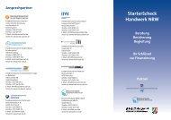 Flyer Starterscheck - Bürgschaftsbank NRW