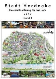 HH-Satzung 2013 Band 1 - Stadt Herdecke