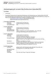 Arbeitszeitenregelung Fachfrau/-mann Gesundheit EFZ - im ...
