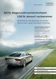 80 % Regenwahrscheinlichkeit 100 % darauf ... - Sirries automobile