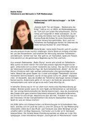 Nadine Kelber Teilnehmerin und Betreuerin in TLM-Mediencamps ...